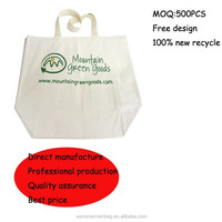 recyclable canvas organic cotton bag