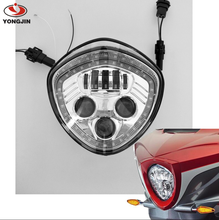 Motorcycle Headlights with angle eye Assembly IP67 LED Motorcycle Headlamp Kit for Victory Motorcycle Headlight