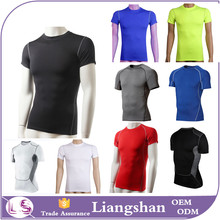 2016 custom design dry fit shirts wholesale custom t shirt screen printing mens Short Sleeve dry fit T Shirt mens sports wear