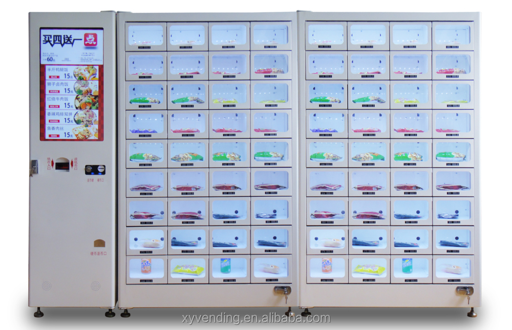 Hot Foods Machines! Vending Machines for Pizza/Fast Food/Lunch Box with 72 boxes