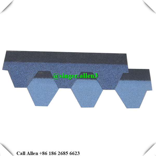 OEM Mosaic type colorful stone coated asphalt roofing shingles / 20 Years Lifetime fibreglass types of roofs