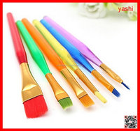 YASHI acrylic handle colorful hair oil painting brush set