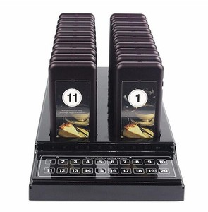 20 Digital Restaurant Coaster Pager / Guest Paging Queuing System