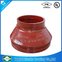 FM/UL concentric reducer ductile iron grooved fittings for fire hydrant