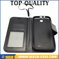 factory sale Luxury Pu leather stand flip cover wallet case for HTC Desire 310