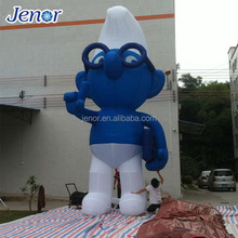 Advertising Inflatable Cartoon Character The Smurfs for Outdoor Decoration