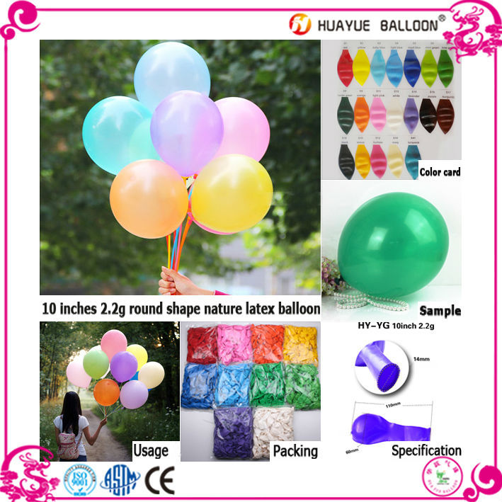 2016 new design wedding advertising decoration latex balloons, water balloon