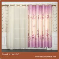 Modern French style Jacquard Printing blackout window curtains for hall divider