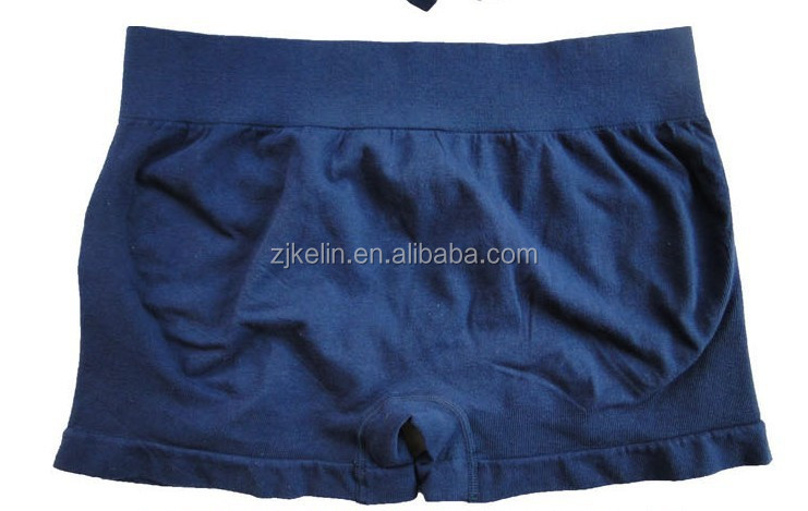 Factory men nude seamless nylon boxers