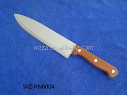 chef knife with wooden handle