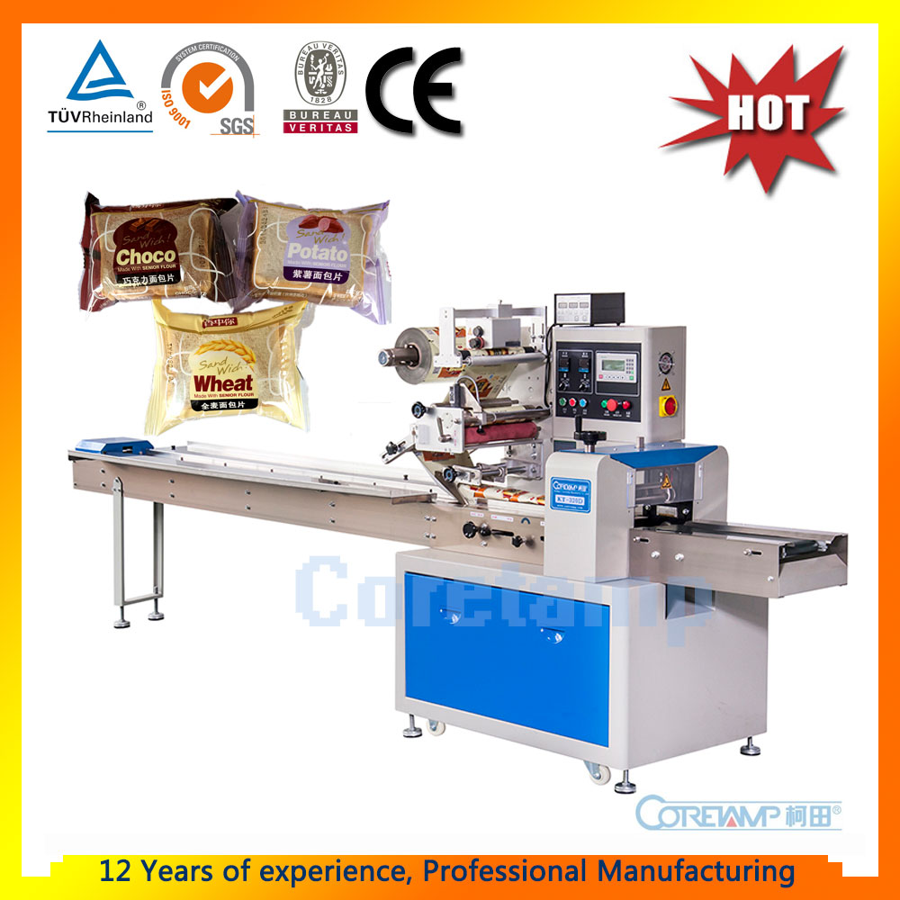 Automatic Pillow Dry Food Packing Machine For Mushroom/Bread/Noodles/Biscuits