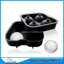 4 cavities silicone ice ball mold ,silicone ice ball maker