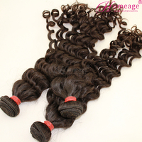 homeage wholesale in stock 12-26inches virgin brazilian human hair extension
