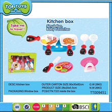 Plastic kitchen toys play food set for kids cook game toy