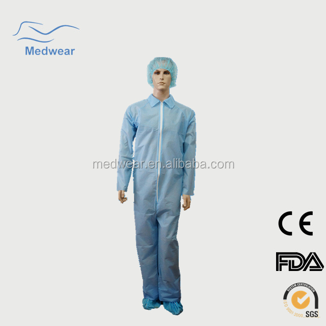 Disposable Personal protective equipment Coveralls in hospital