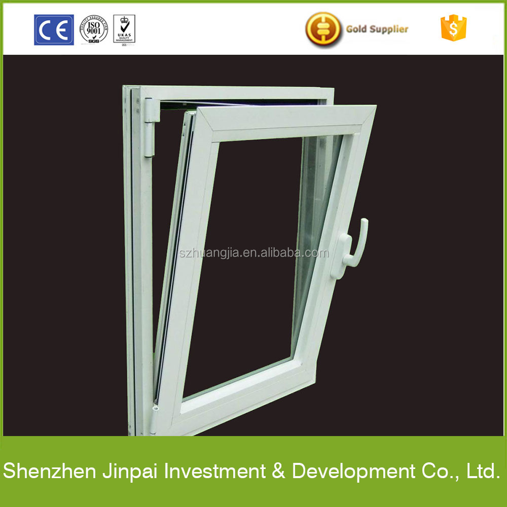 2016 latest design top-hung beveled aluminum window with tempered glass