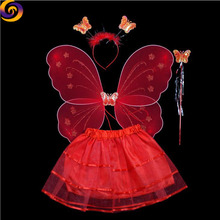 Halloween carnival masquerade party Decoration prop baby girl fairy dress with butterfly wings