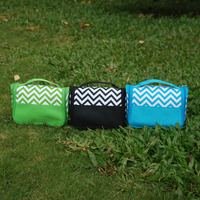 Wholesale Ready in Stock Polyester Material Chevron Cosmetic Bag Chevron Toiletry Bag Makeup Bag DOM104219