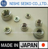 High quality aluminum nuts made in Japan for automotive industry