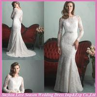 Hot selling modest wedding dresses long sleeves with low price