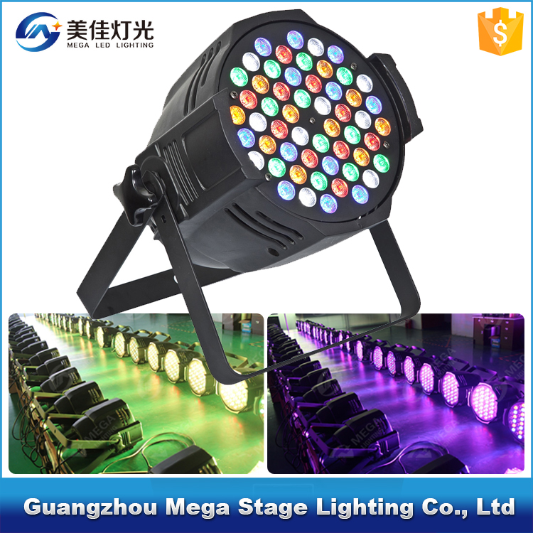 CE& RoHS 54pcs 3w rgbwa high quality led par light par64