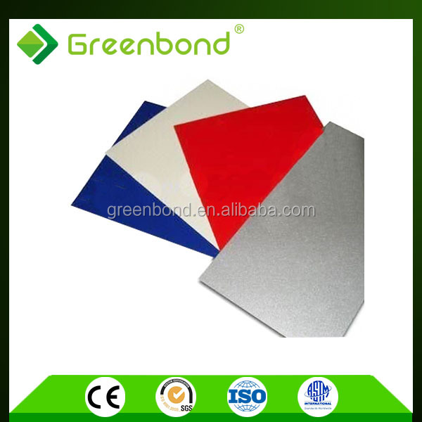 Greenbond brushed caravan wall cladding aluminum composite panels with high quality