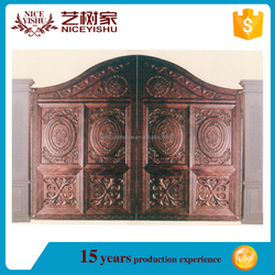 Yishujia factory aluminum main gate designs for homes, sliding main aluminum gate designs