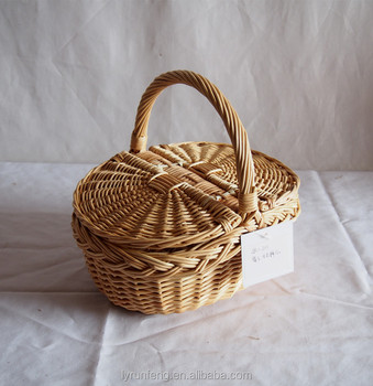 Handmade Willow Wicker Picnic Basket from Linyi