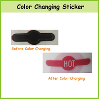 China Factory Custom Logo Color Changing Paper Sticker Temperature