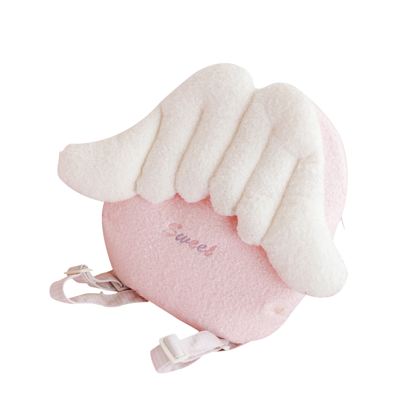 <strong>Bag</strong> plush pink cute angel backpack crossbody <strong>bag</strong> girl plush stuffed <strong>bag</strong>
