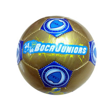 BALONES DE FUTBOL custom printed golden promotional PVC small size football ball inflatable mini soccer ball size 2