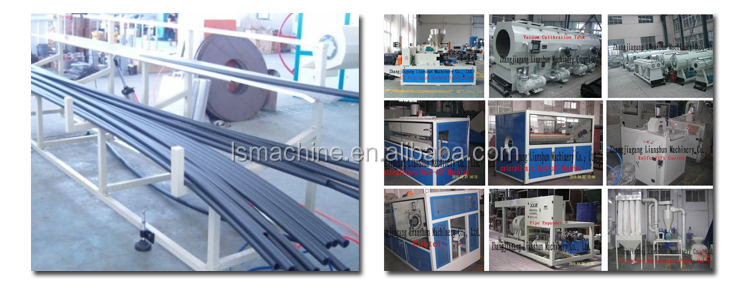 Plastic pipe production line/ PE pipe making extruding machine