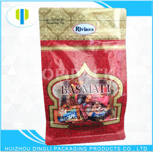 OEM new product clear window plastic laminated waterproof food flat bottom packaging bags