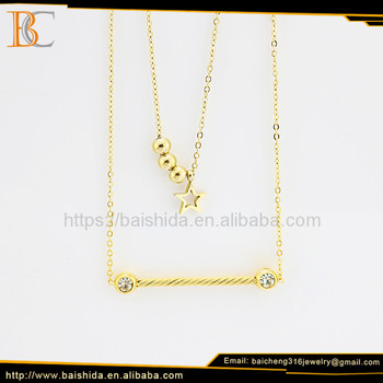 women necklace jewelry star shape pendant beads necklace for kids