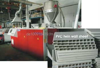 PVC Twin-Wall Sheet Extrusion Line, mfc. Krauss Maffei twin extruders