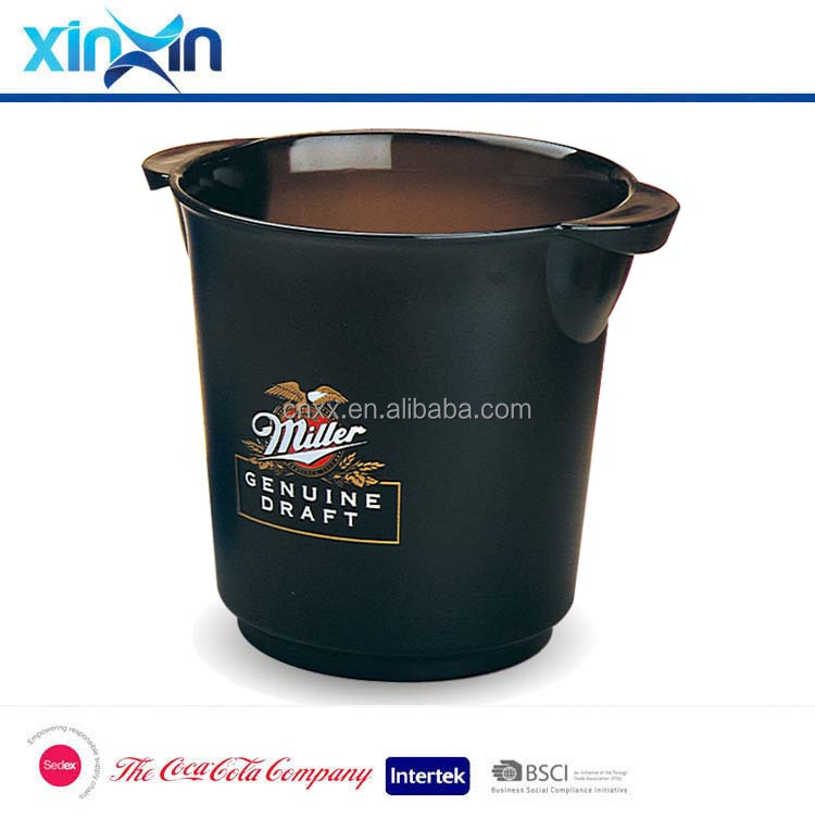 plastic beer champagne wine cooler ice bucket with handle