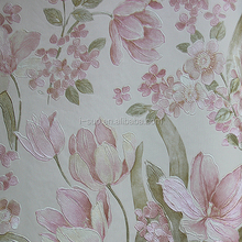 snow White bamboo design PVC wallpaper for home decoration