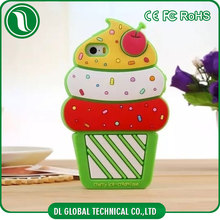 Korean sweet style cute silicone back cover for ipad mini case cover shockproof case for ipad mini of ice cream pattern