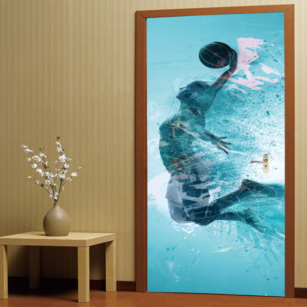 Water Shoot Printing Self Adhensive Strong Home Decor Post Label Mural Stickers Tile Door Decals Waterproof Pvc