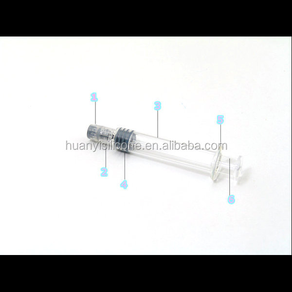 Prefilled tip cap glass syringe hemp oil injection syringe