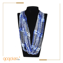 most selling items crochet necklace beaded fabric belt made scarf for wholesale
