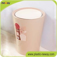 fashion office top open 8L plastic dustbin waste container