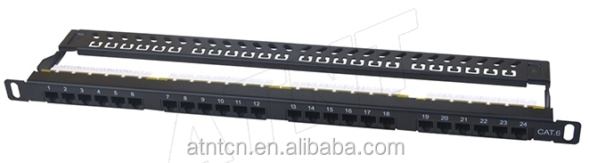 "<strong>19</strong>"" half <strong>U</strong> cat6 24 port patch panel"