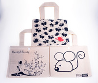 Natural Cotton Lunch Tote Bag