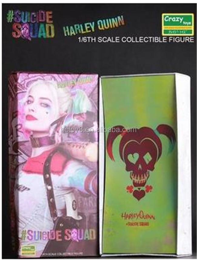 "Gzltf Wholesale PVC Crazy Toys Suicide Squad Harley Quinn 1/6th Scale Collectible Figure Model Toy 12"" 30 cm"