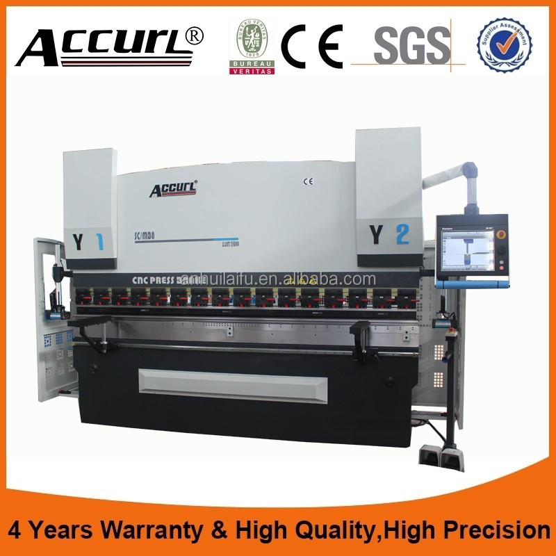 ACCURL CNC hydraulic stainless steel bending machine low noise sound 100t 3200mm press brake