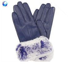 Classic women fashion warm black sheepskin leather gloves gloves buyers