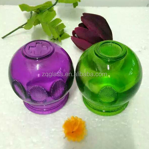 Standard Chinese Traditional Therapy Apparatus Heath Care Colorful Color Vacuum Cupping Glass Cup