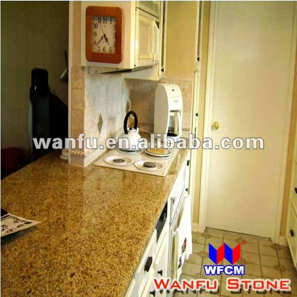 Small Kitchen Red Granite Stone Bench Top