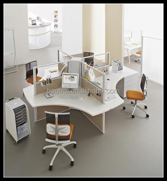 Office desk supply to korea market good quality staff work station